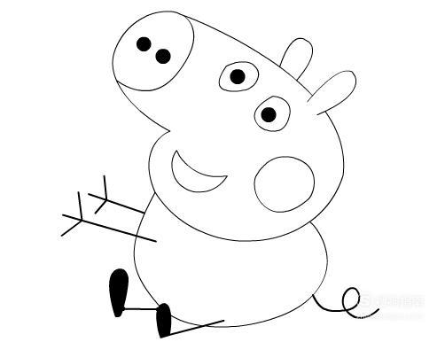动画片人物之小猪佩奇怎么画?(简单)