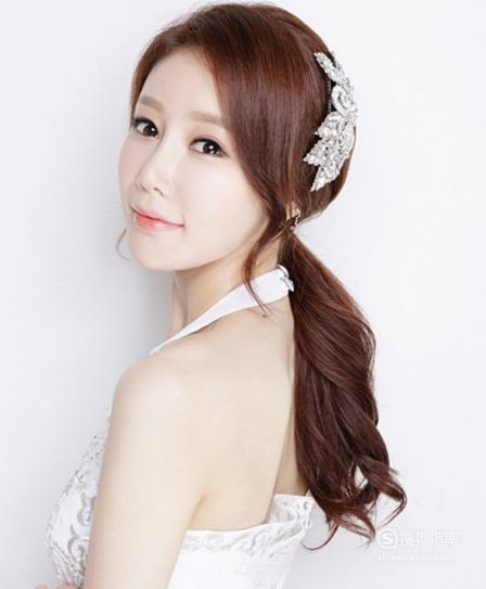 韩式新娘发型图片