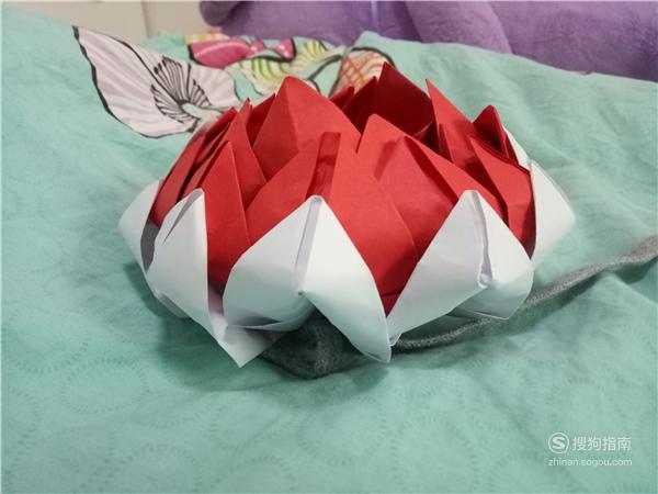 手工折纸——漂亮荷花的详细折法