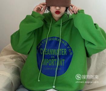 绿色连帽卫衣怎么搭配