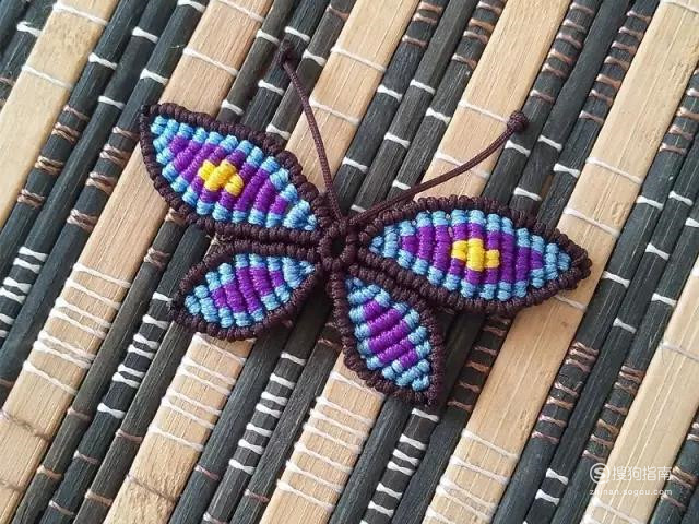 手工绳蝴蝶的编法