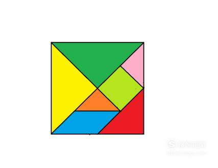 益智玩具七巧板——巧拼形状