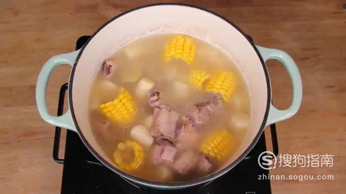 排骨山药玉米汤的制作方法