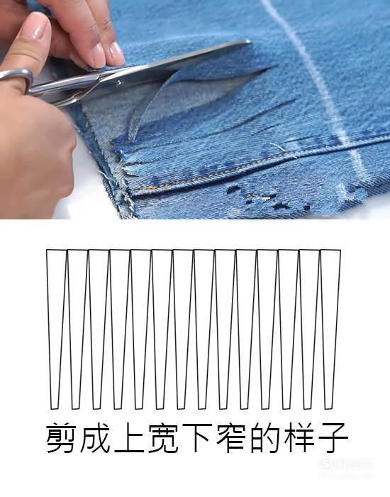 怎么把正常的牛仔裤变成时尚的毛边牛仔裤