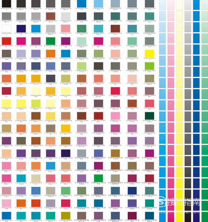 深紫色cmyk色值_CMYK各个颜色的色值大全_分乐知识 分享新知识